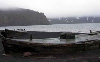Zodiac landing and walk at Deception Island. Enjoy the old whaling station, whaling bones and observe pinguins