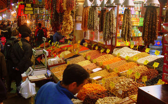 Wander through the spice bazaar