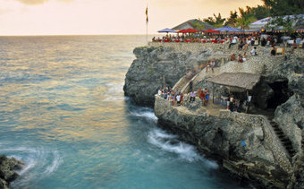 Rick's Cafe, Negril (jump + drink)