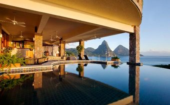 I would stay at: Jade Mountain