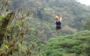 Costa Rica Zip Line in the Selvatura Forest