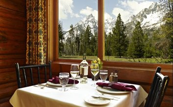 5 course dinner at Jenny Lake Lodge