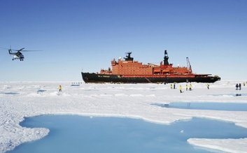 "Sail with a Russian nucleair icebreaker ""50 years of Victory"" to the North Pole"