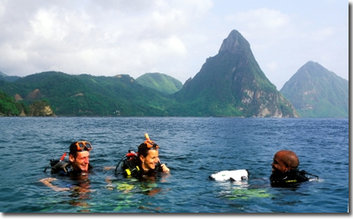 Scuba dive at Scuba St Lucia