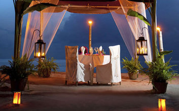 Dinner on a private beach